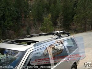 Black-Alloy-Roof-Rack-Cross-Bars-for-BMW-5-Series-Wagon-E39-04-97-04-w-rails