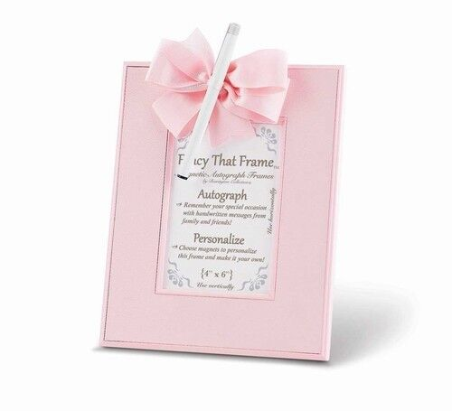 Pale Pink Autograph Personalize Message Girls Magnetic Picture Photo ...