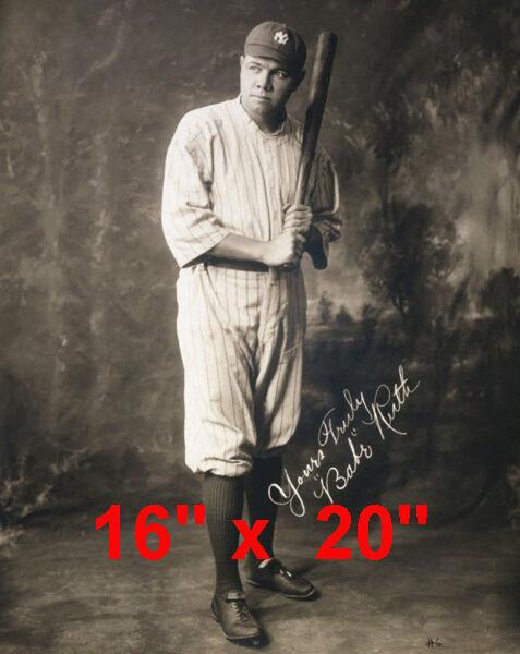 """NY Yankees~Photo~Babe Ruth~Poster~16"""" x 20"""""""