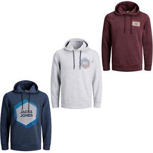 Jack /& Jones Core Hoodie Logo Print Drawstring Hooded L//S Sweater Mens JCOTary
