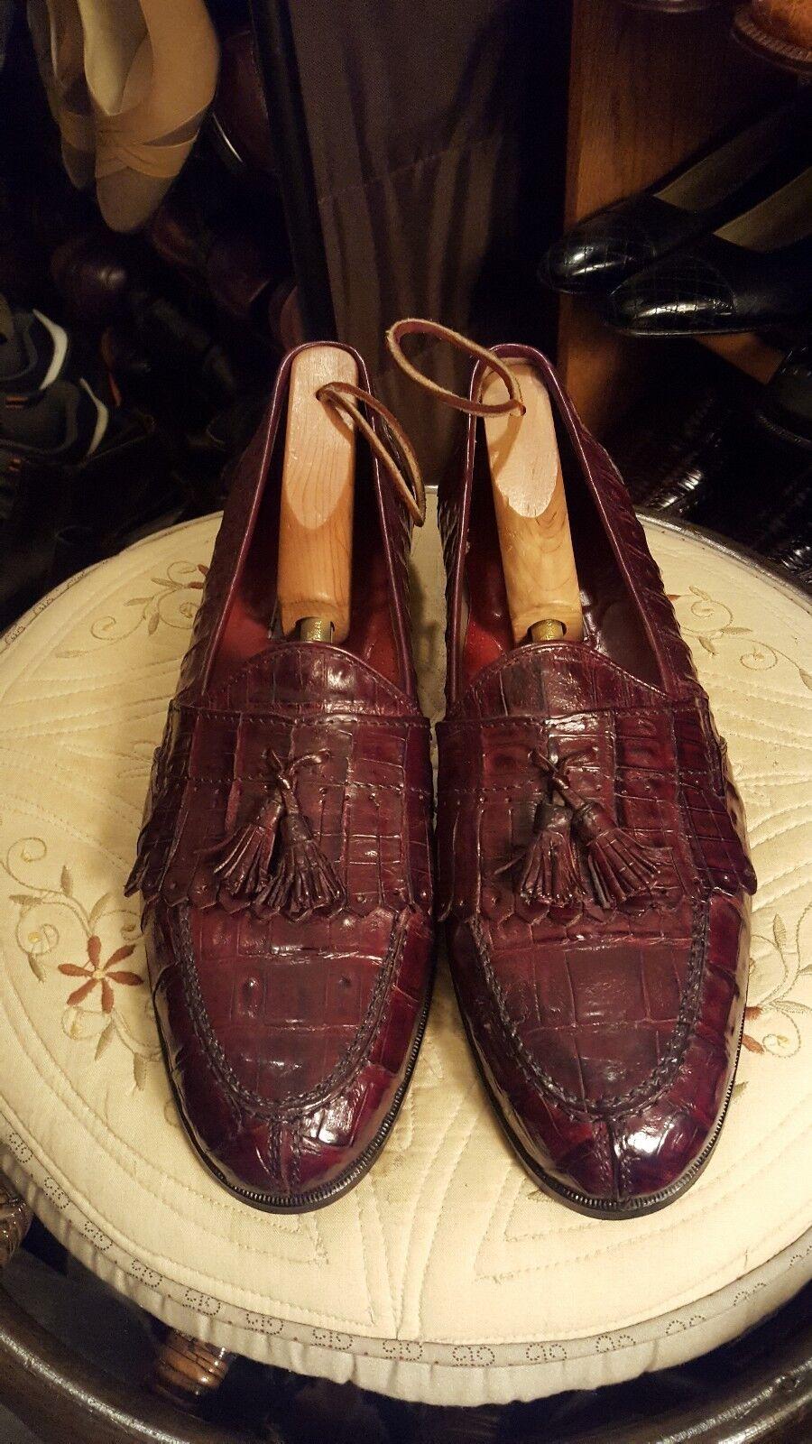 Bruno magli Genuine Crocodile Men Dress schuhe Sz 12-N