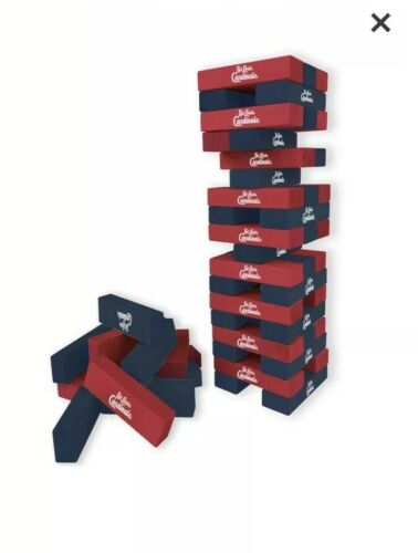 Louis Cardinals Wild Sports Table Top Stackers Jenga Game BNIB St