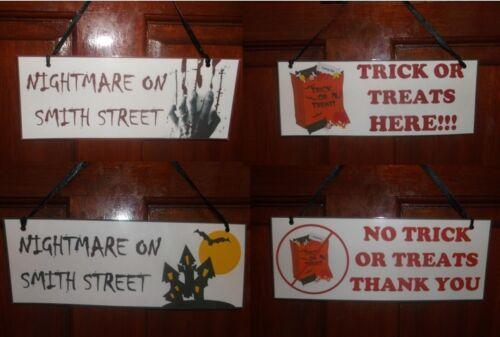 Door Window Halloween Sign Plaque With Personalised Option Halloween Party Etc