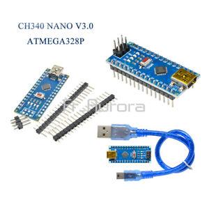 Carte Nano ARDUINO V3.0 ATmega328 16M 5V USB DIY