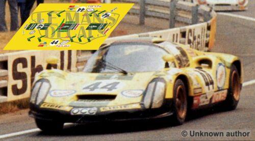 Decals Porsche 910 Le Mans 1974 44 1:32 1:43 1:24 1:18 slot calcas