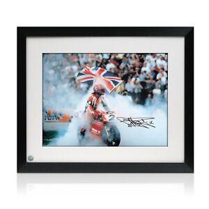 Framed-Carl-Fogarty-Signed-Superbikes-Photo-Motor-Sport-Memorabilia