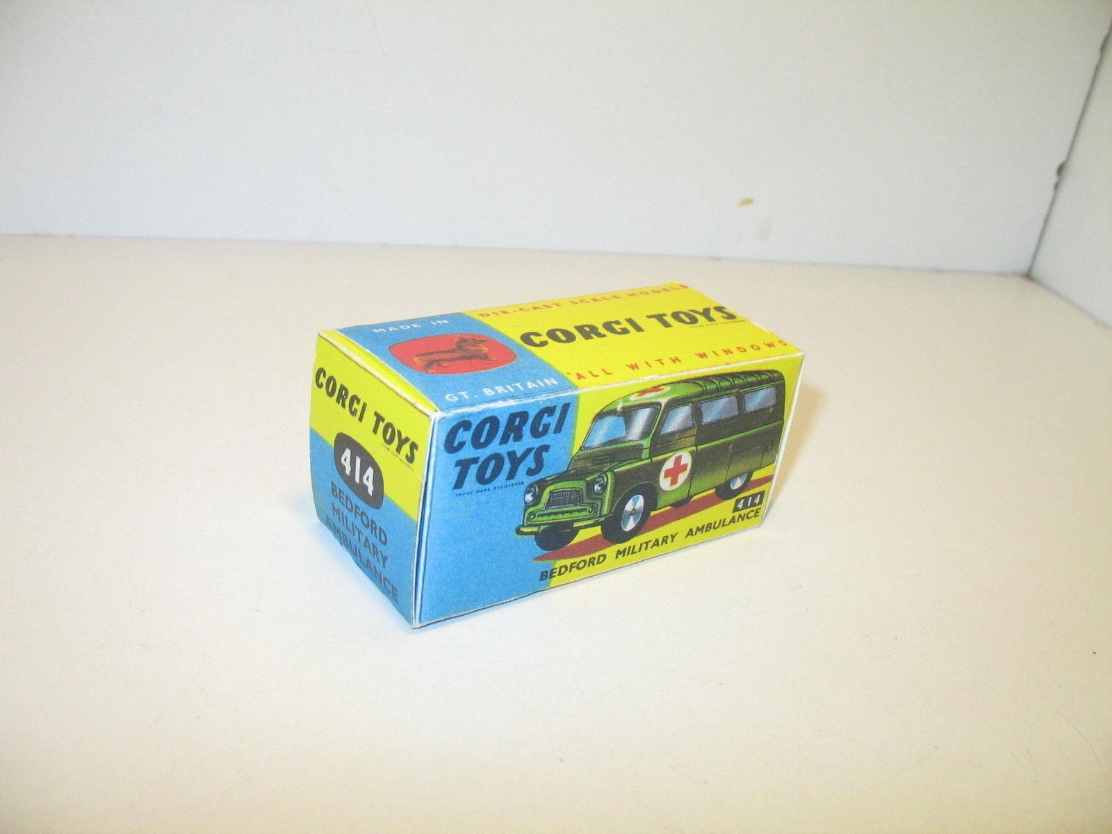 N86, Schachtel repro bedford Militär Ambulanz, CORGI Spielzeug Armee