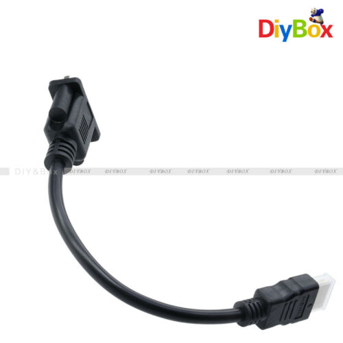 1080P HDMI Male To VGA D-SUB pins Female Video AV Adapter Cable For HDTV PC