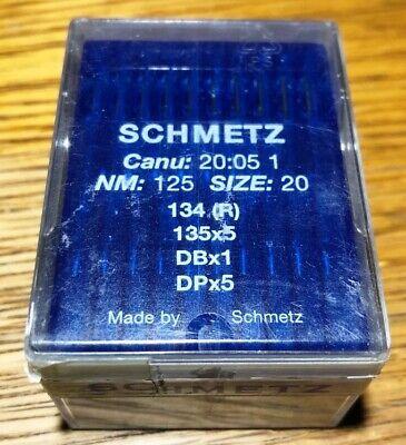 135X5 DPX5 CANU:20:05 1 Industrial Sewing Machine Needles R 100 Schmetz 134
