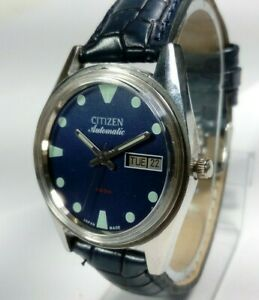 Vintage-Citizen-Automatic-Movement-Day-Date-Dial-Mens-Analog-Wrist-Watch-A35