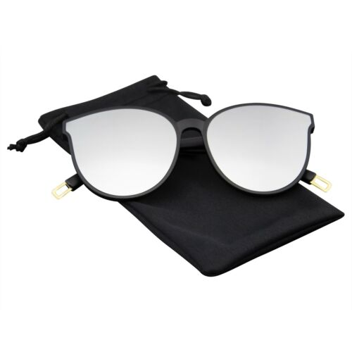Cat Eye Sunglasses Womens Matte Mirrored Mirror Lens Reflective Retro Vintage