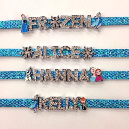 Frozen inspired rhinestone bracelet or personalized your own name bracelet/froze