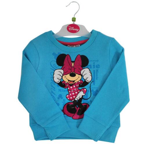 Bambine Minnie Mouse Felpa Maglione Blu Vestiti Per Bambini Disney Top 2-8