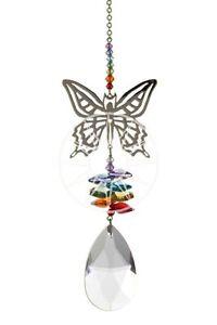 New-Large-Fantasy-Suncatcher-Incorporating-Swarovski-Crystals-Rainbow-Butterfly