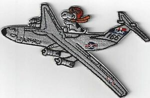 LARGE SNOOPY U.S.A AIRFORCE FLYER IRON ON  PATCH BUY 2 GET1 FREE = 3 OF THESE