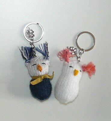 2 Schlüsselanhänger Mit Süßen Mini-eulen, Glücksbringer, Neujahr, Sylvester
