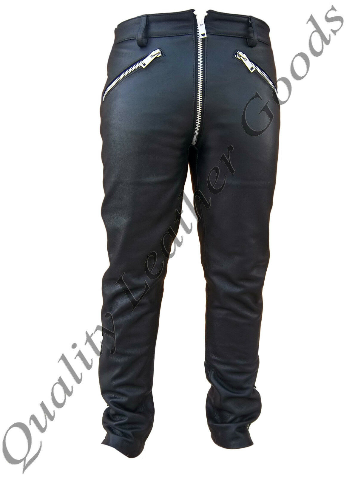 MEN SYNTHETIC LEATHER JEANS CHAPS BREECHES LUXURY PANT TROUSERS BIKER GOTHIC GAY