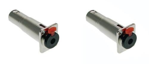 XLR Male Adapter Pass Through Connector 2 Pack ProCraft SVP578-2 Locking 1//4