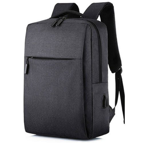 Men Casual Sport Backpack Rucksack School Travel Laptop Bag With USB Charge Port