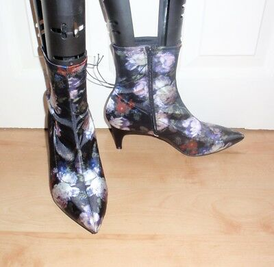 NEW Marks and Spencer womens floral print ankle boots various sizes