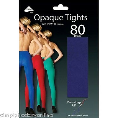 Pretty Legs 80 Denier Opaque 3D Microfibre Tights Great Colour Selection Soft