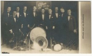 1920s-Alfredo-and-His-Orchestra-London-Music-Band-Photo-Business-Card