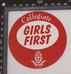 VINTAGE-ST-MICHAELS-COLLEGIATE-GIRLS-SCHOOL-TASMANIA-ADVERTISING-PROMO-STICKER