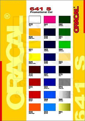 10m Roll Oracal 641S Self Adhesive Sign Making Vinyl Sticky Back Plastic Film