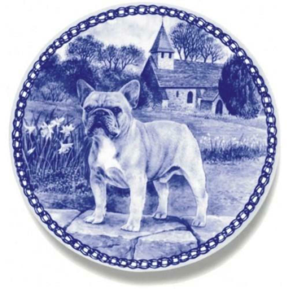 French Bulldog  Dog Plate made in Denmark from the finest European Porcelain