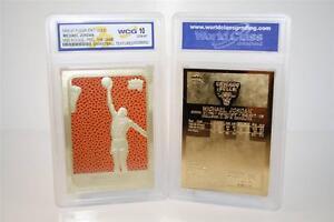 MICHAEL-JORDAN-1986-Fleer-ROOKIE-Feel-The-Game-23KT-Gold-Card-Graded-GEM-MINT-10