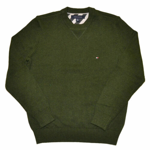 Tommy Hilfiger Mens Pullover Sweater Long Sleeve Casmere Pima Cotton Flag New