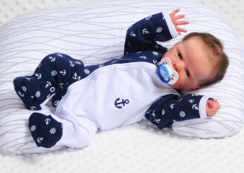 SCHLAFANZUG Baby Strampler Anzug Overall 50 56 62 68 74 80 86 mit//ohne Mütze SET