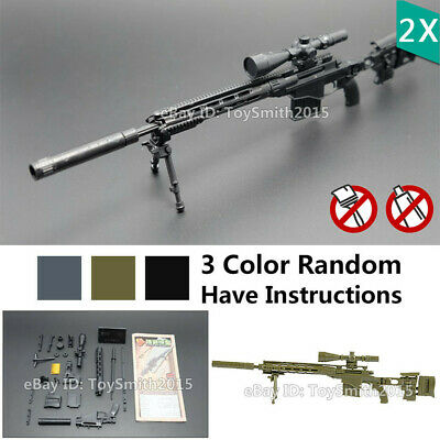 1//6 Scale Miniature SMG Sniper Rifle Action Figure Doll Weapon Gun 1 Random Toy