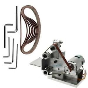 Grinder-Electric-Belt-Sander-Mini-DIY-Polishing-Grinding-Silver-Machine-Small
