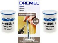 40pc Mastercraft Cut-off Wheels And Dremel 402 Screw Mandrel
