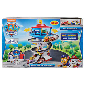 High Quality Gift for Kids Paw Patrol True Metal Adventure Bay Speedway Playset