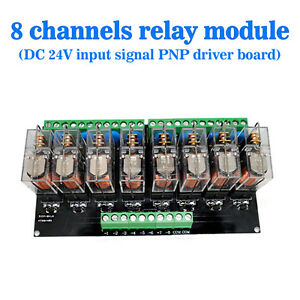Omron-8-Relay-Module-Eight-Panels-Driver-Board-Module-DC-24V-PNP