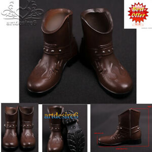 1//6 Scale Male Shoes Black Ankle Boots Sports Shoes for 12 Inch Hot Doll