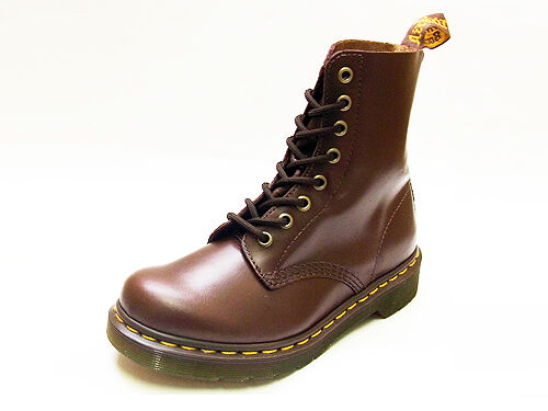 Dr. Martens  Women's 1460 Pascal Brown Buttero Leather Ankle Boots
