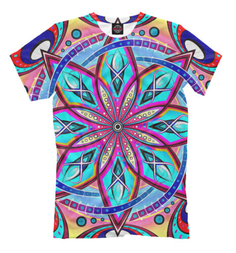 All Over print shirt colorful psychedelic tee mandala lsd EDM Stained-glass