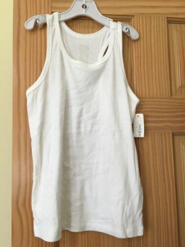NWT Gymboree White Tank Top Tee Shirt Top Girls Basic 10//12,14