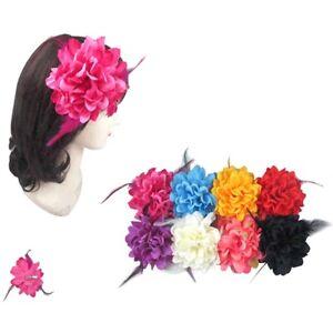 6pc Silk Hair Flower Clips Bridal Hairpin Brooch Wedding Bridesmaid
