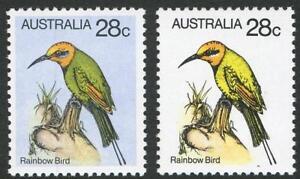 Decimal-Issues-1980-SG-735-variety-28c-Rainbow-Bird-with-variety-BW-816ca