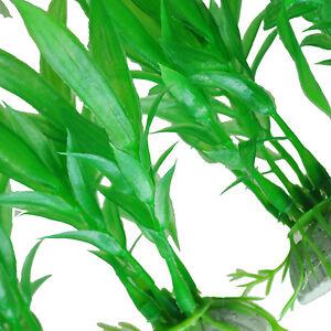 10pcs Artificial Green Plants Aquarium TanFish Vivid Plastic Grass Decoration ED