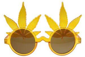 420-Marijuana-Pot-Glasses-Sunglasses-Leaf-Party-Novelty-Orange-Brown