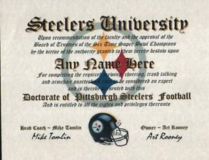 STEELERS-PITTSBURGH-STEELERS-NFL-MAN-CAVE-CERTIFICATE-DIPLOMA-GIFT