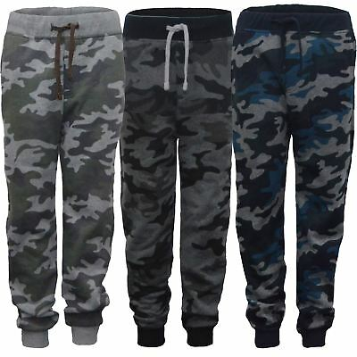 Boys Kids Camouflage Print Hooded Top or Jogging Bottoms Teens Tracksuit 3-14 Y