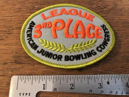 Vintage AJBC League 3rd Place Bowling Patch