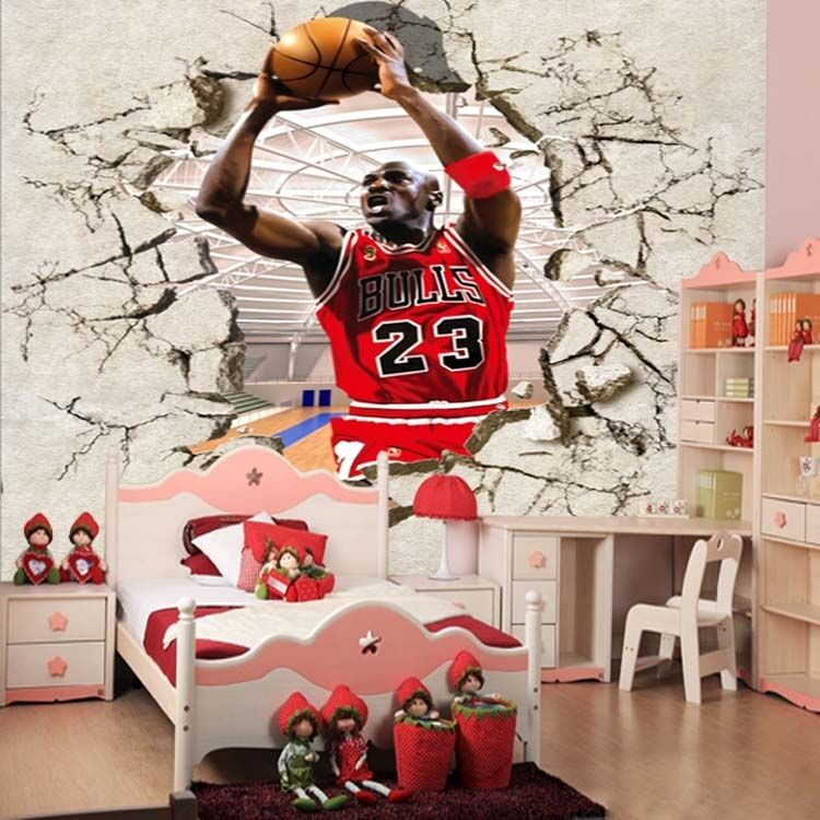Huge 3D Jordan Basketball 761 Wall Paper Wall Print Decal Wall Deco AJ WALLPAPER