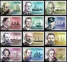 South Georgia 2015 Ships & Explorers 12v set MNH